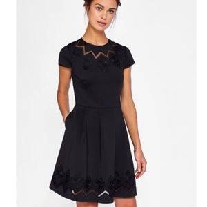 NWT Ted baker lace and mesh cheskka black dress